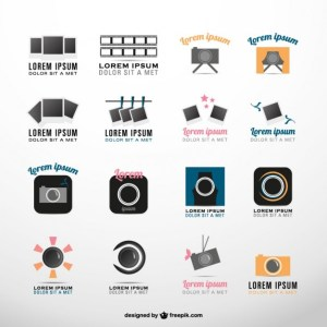 Photography Symbols Logo Collection Free Vector