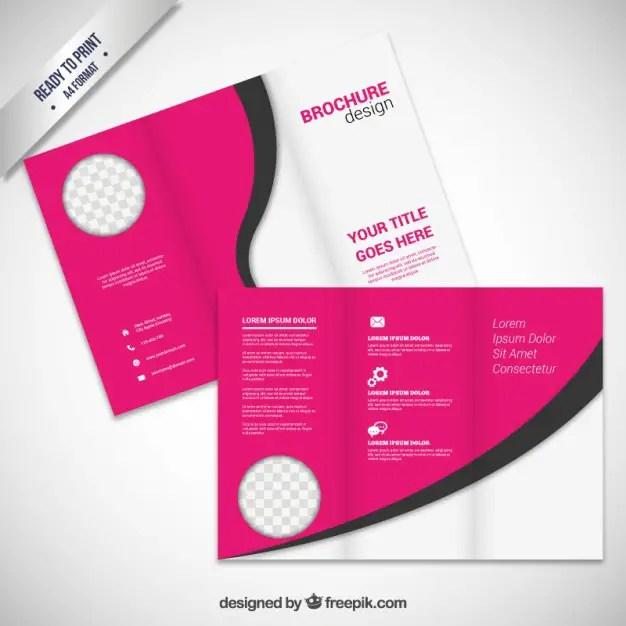 Pink Brochure Design Free Vector