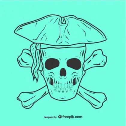 Pirate Skull Icon Illustration Free Vector