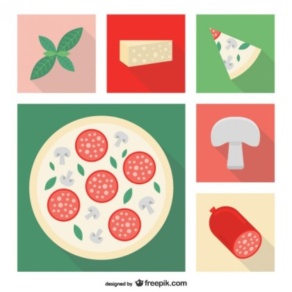 Pizza Ingredients Free Vector