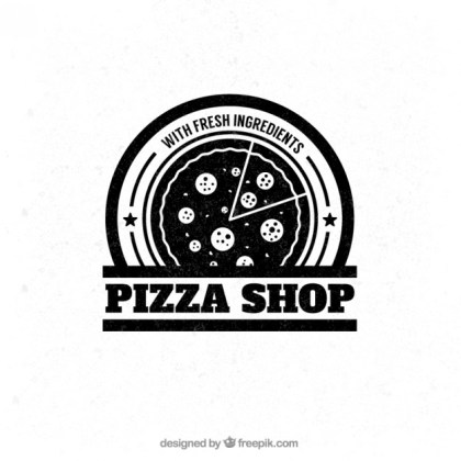 Pizza Shop Badge Free Vector