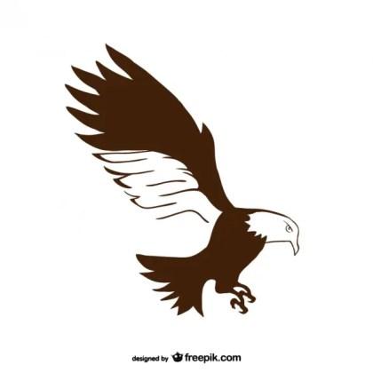 Plain Hand Drawn Eagle Free Vector