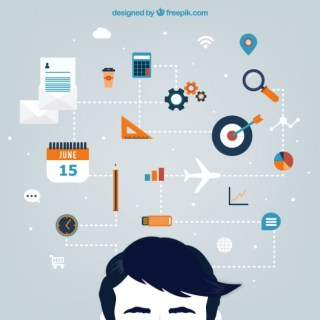 Planning Concept in Infographic Style Free Vector