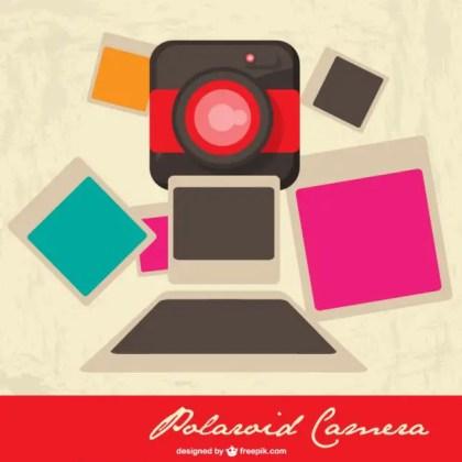 Polaroid Camera Illustration Free Vector