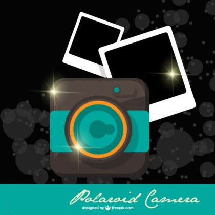 Polaroid Camera Template Free Vector