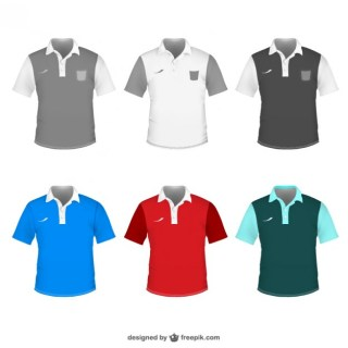 Polo Shirt Template Free Vector