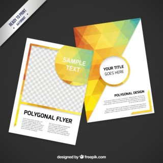 Polygonal Flyer Free Vector