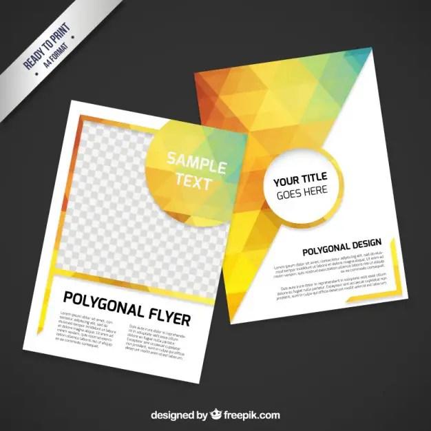 Polygonal Flyer Free Vector