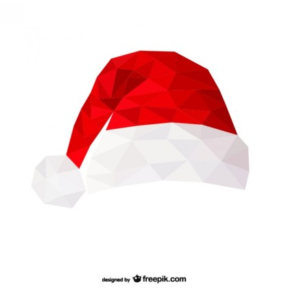 Polygonal Santa Claus Hat Free Vector
