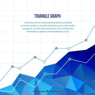 Polygonal Statistics Chart Free Vector