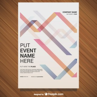 Poster Geometric Design Free Vector