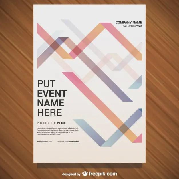 Poster Geometric Design Free Vector