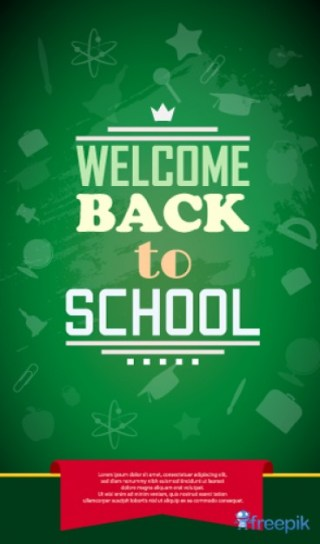 Poster Welcome Back To School Free Vector