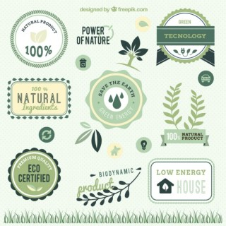 Power of Nature Labels Free Vector