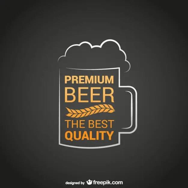 Premium Beer Logo Free Vector