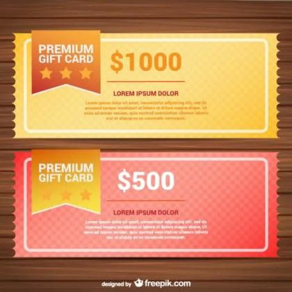 Premium Gift Card Templates Free Vector