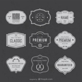 Premium Quality Stickers Free Vector