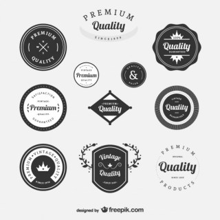 Premium Vintage Labels Set Free Vector