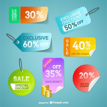 Price Tags Set Free Vector
