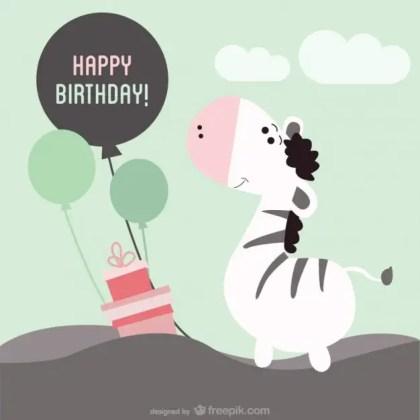 Printable Birthday Card Free Vector