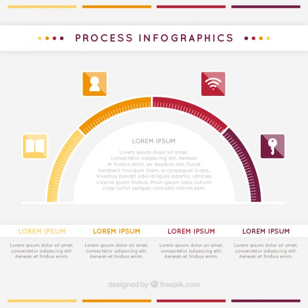 Process Infographic Free Vector