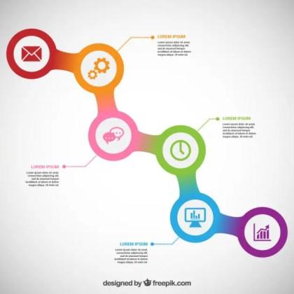 Progressive Infographic Free Vector
