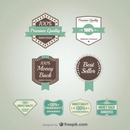 Promotional Badges Free Vector