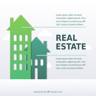 Property Infographic Arrow Background Free Vector