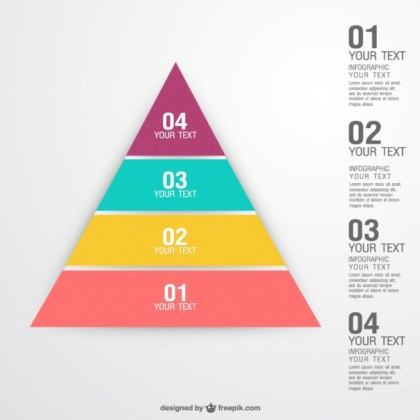 Pyramid Concept Infographic Free Vector