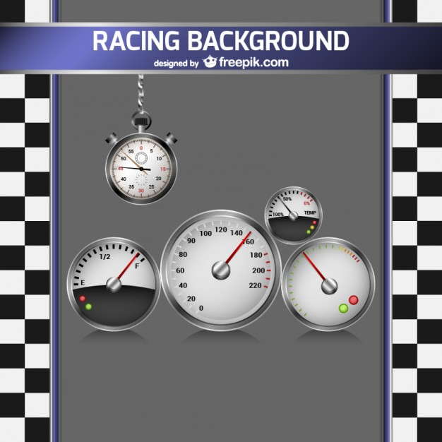 Racing Background with Speedometer Free Vector