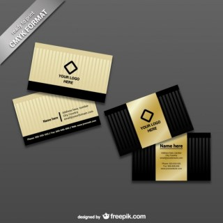 Ready To Print Business Card Template Free Vector