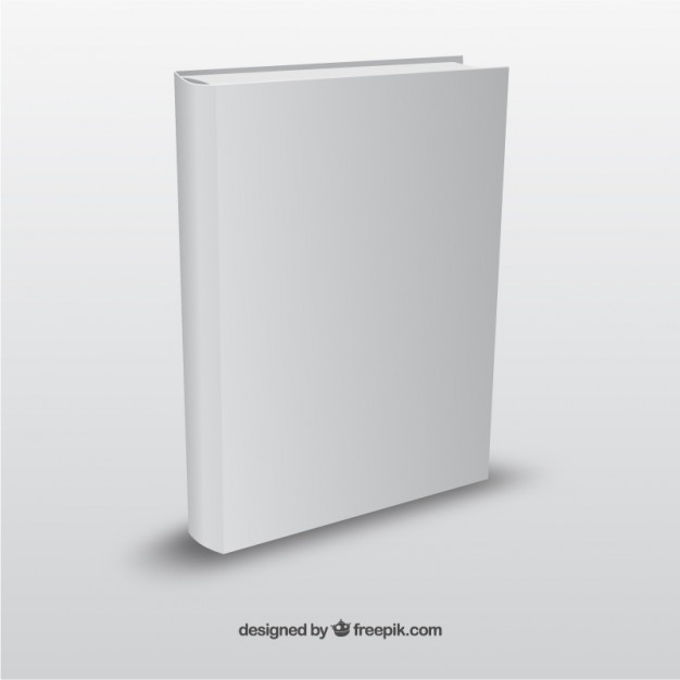 Realistic Book Template Free Vector