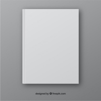 Realistic Book Template in Front Side Free Vector