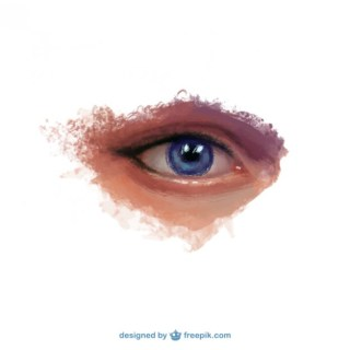 Realistic Hand Painted Eye Free Vector