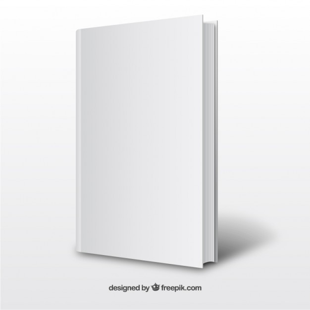 Realistic White Book Template Free Vector