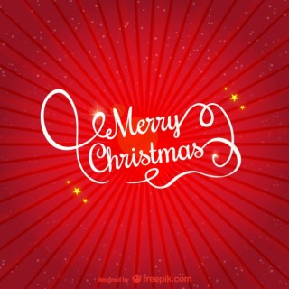 Red and White Merry Christmas Greeting Free Vector