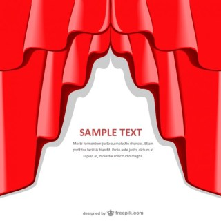 Red Curtain Background Template Free Vector