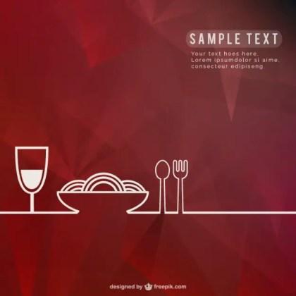 Restaurant Background Template Free Vector
