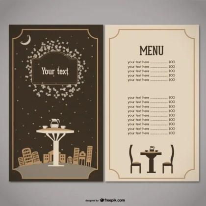 Restaurant Menu Free Vector