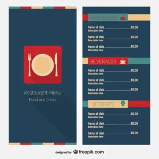 Restaurant Menu Layout Design Free Vector
