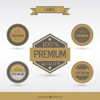 Retro Badges and Labes Free Vector