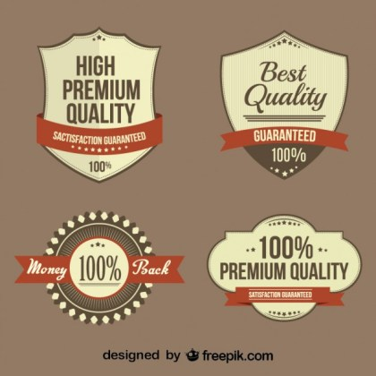 Retro Business Badges Collection Free Vector