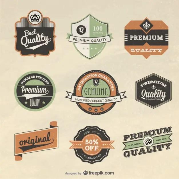 Retro Label Design Free Vector
