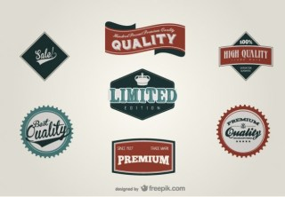 Retro Label Design Material Free Vector