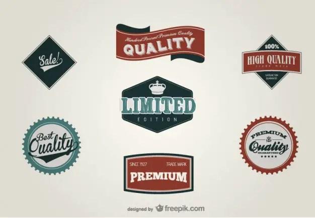 Retro Label Design Material Free Vector