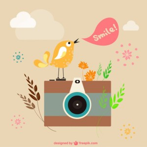 Retro Photography Illustration Free Vector