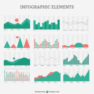 Retro Style Infographic Pack Free Vector