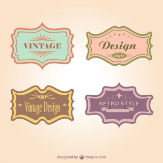 Retro Style Stickers Collection Free Vector