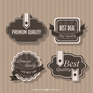Retro Template for Marketing Badges Free Vector