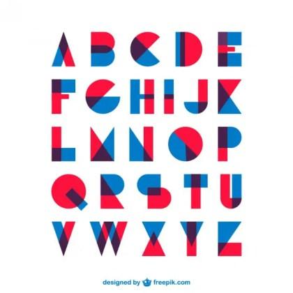 Retro Vintage Type Font Free Vector